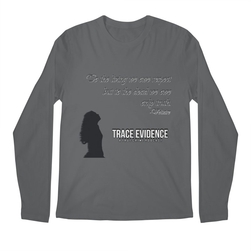 Voltaire Silhouette Men's Longsleeve T-Shirt by Trace Evidence - A True Crime Podcast