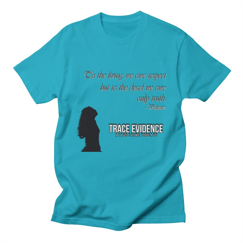 Voltaire Silhouette Men's Regular T-Shirt by Trace Evidence - A True Crime Podcast