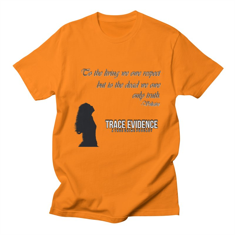 Voltaire Silhouette Women's Regular Unisex T-Shirt by Trace Evidence - A True Crime Podcast