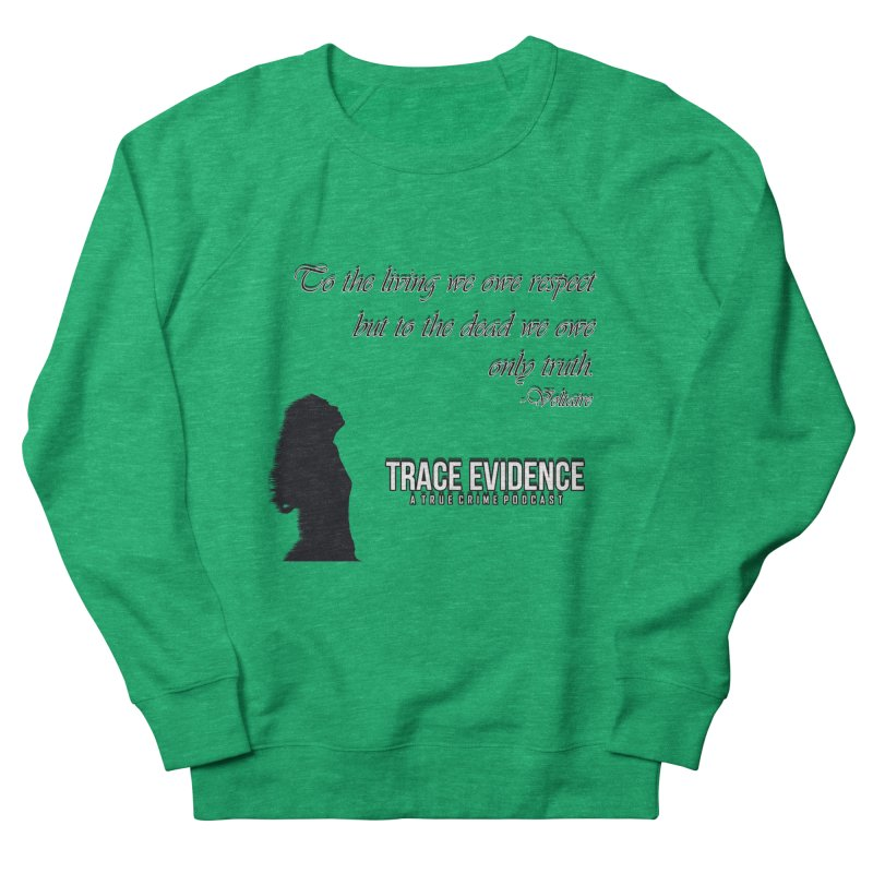 Voltaire Silhouette Women's Sweatshirt by Trace Evidence - A True Crime Podcast