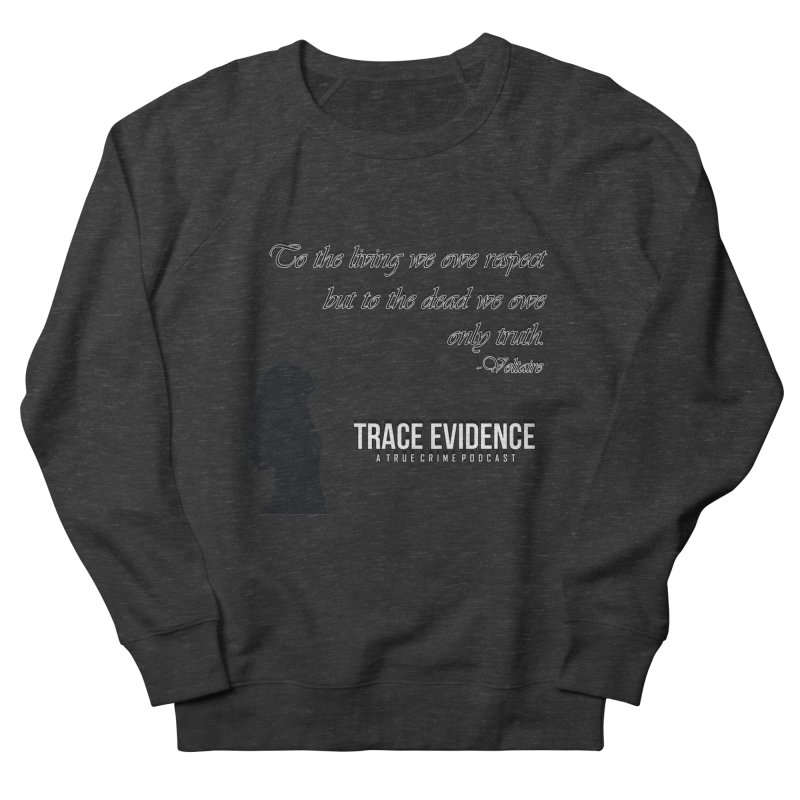 Voltaire Silhouette Women's French Terry Sweatshirt by Trace Evidence - A True Crime Podcast