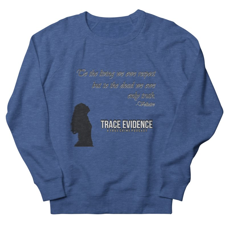 Voltaire Silhouette Men's Sweatshirt by Trace Evidence - A True Crime Podcast