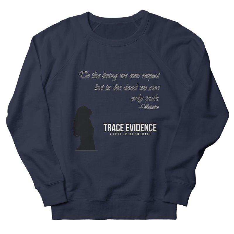 Voltaire Silhouette Men's French Terry Sweatshirt by Trace Evidence - A True Crime Podcast