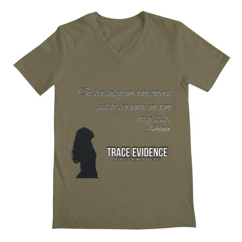 Voltaire Silhouette Men's Regular V-Neck by Trace Evidence - A True Crime Podcast