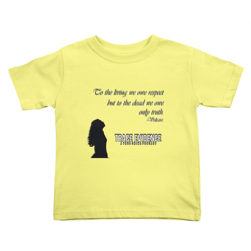 Voltaire Silhouette Kids Toddler T-Shirt by Trace Evidence - A True Crime Podcast