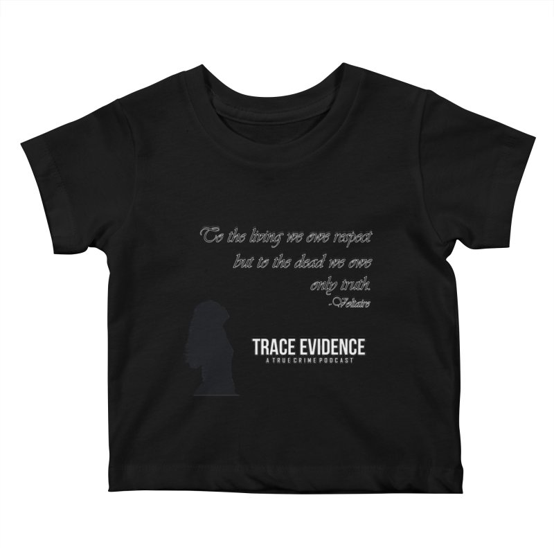 Voltaire Silhouette Kids Baby T-Shirt by Trace Evidence - A True Crime Podcast