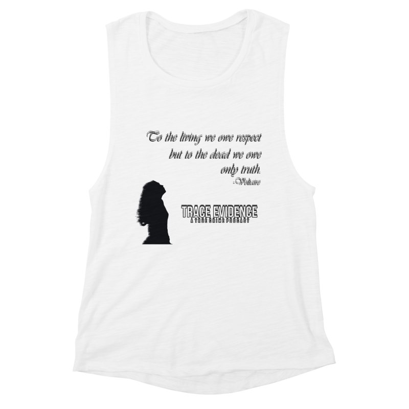 Voltaire Silhouette Women's Muscle Tank by Trace Evidence - A True Crime Podcast