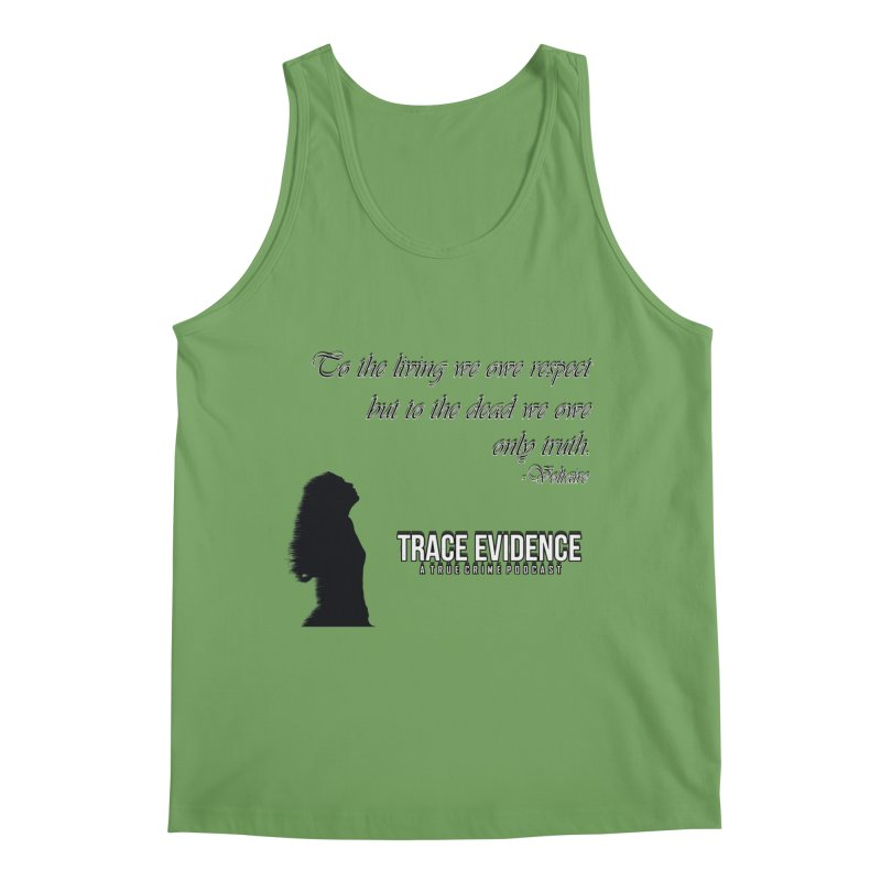Voltaire Silhouette Men's Tank by Trace Evidence - A True Crime Podcast