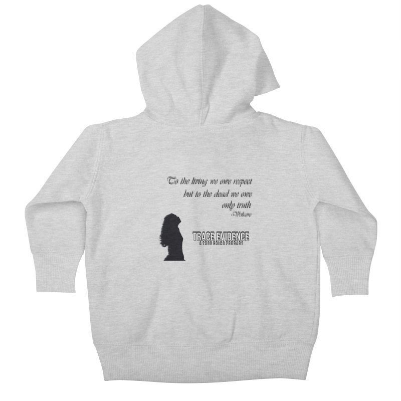 Voltaire Silhouette Kids Baby Zip-Up Hoody by Trace Evidence - A True Crime Podcast