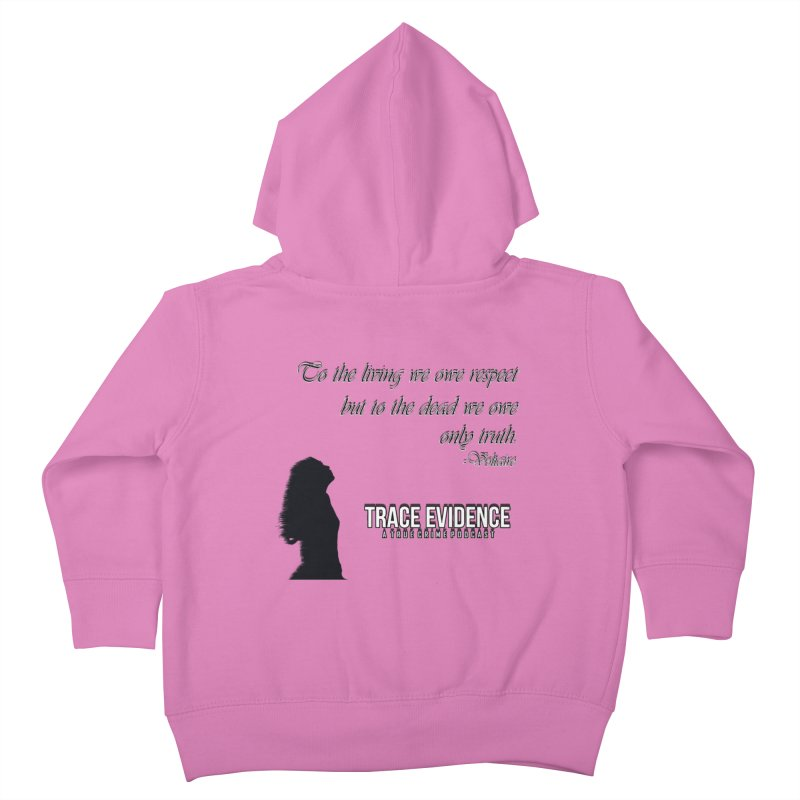Voltaire Silhouette Kids Toddler Zip-Up Hoody by Trace Evidence - A True Crime Podcast