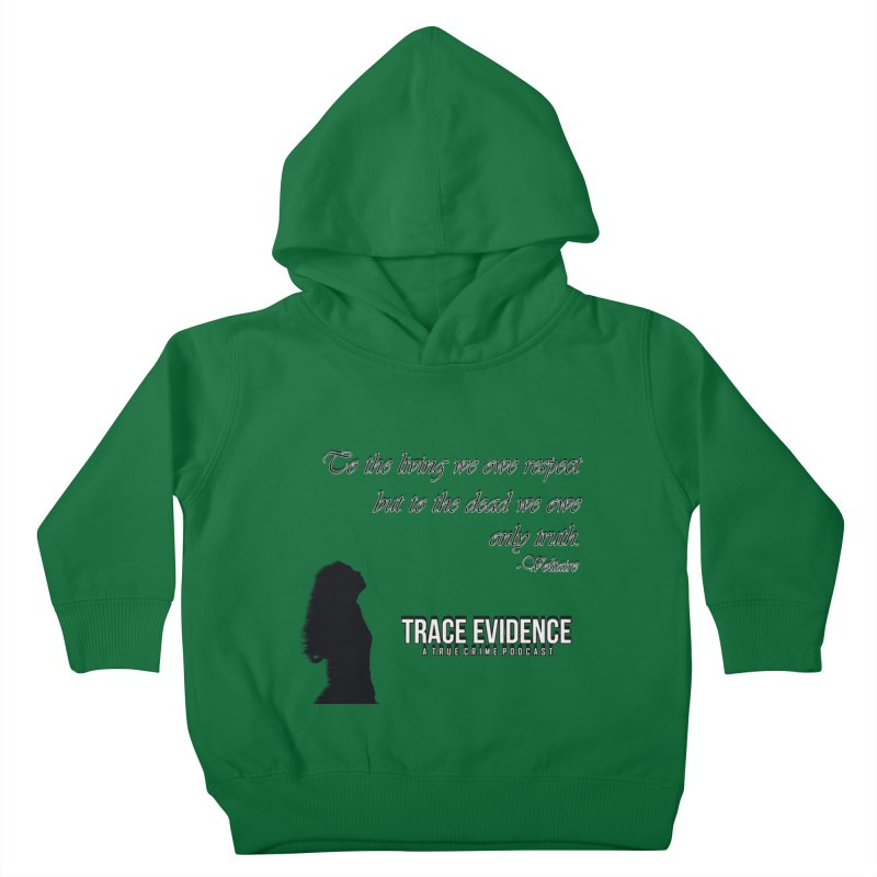 Voltaire Silhouette Kids Toddler Pullover Hoody by Trace Evidence - A True Crime Podcast