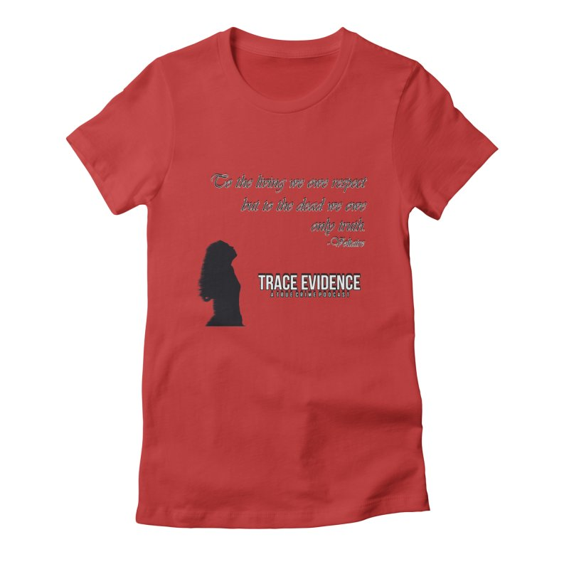 Voltaire Silhouette Women's Fitted T-Shirt by Trace Evidence - A True Crime Podcast