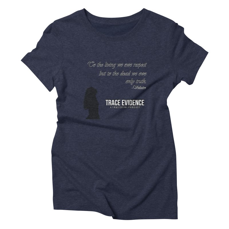 Voltaire Silhouette Women's Triblend T-Shirt by Trace Evidence - A True Crime Podcast