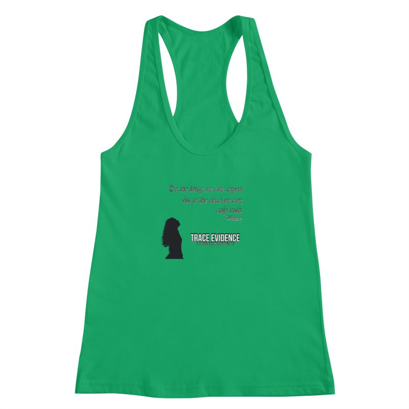 Voltaire Silhouette Women's Tank by Trace Evidence - A True Crime Podcast