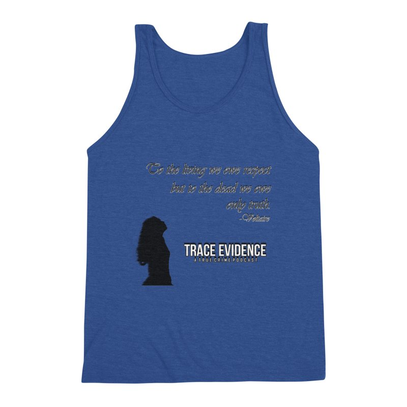Voltaire Silhouette Men's Triblend Tank by Trace Evidence - A True Crime Podcast