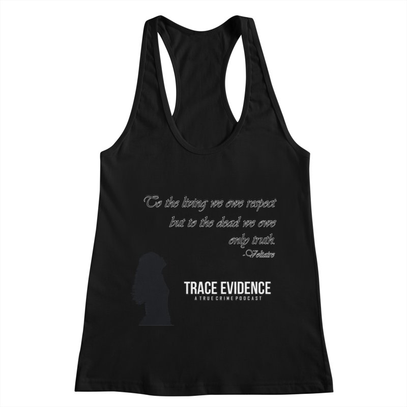 Voltaire Silhouette Women's Racerback Tank by Trace Evidence - A True Crime Podcast