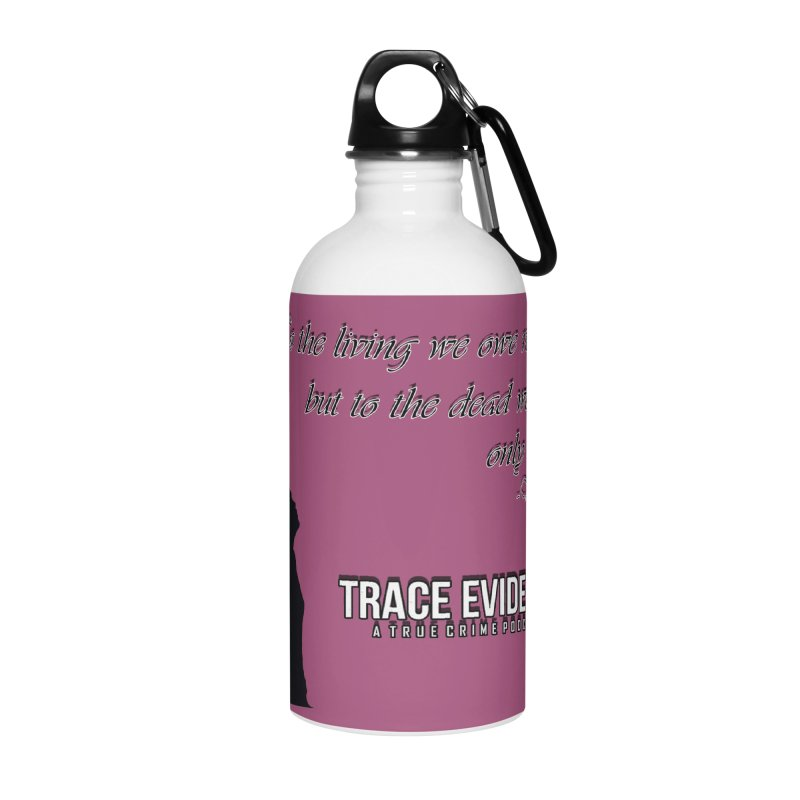 Voltaire Silhouette Accessories Water Bottle by Trace Evidence - A True Crime Podcast