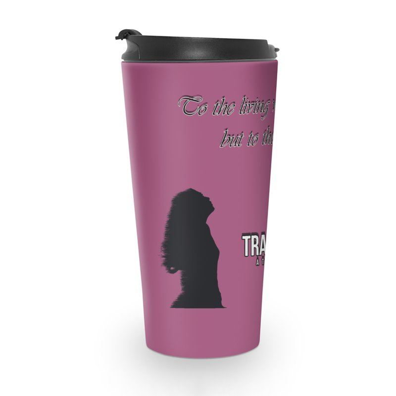 Voltaire Silhouette Accessories Travel Mug by Trace Evidence - A True Crime Podcast