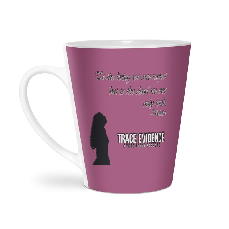 Voltaire Silhouette Accessories Latte Mug by Trace Evidence - A True Crime Podcast