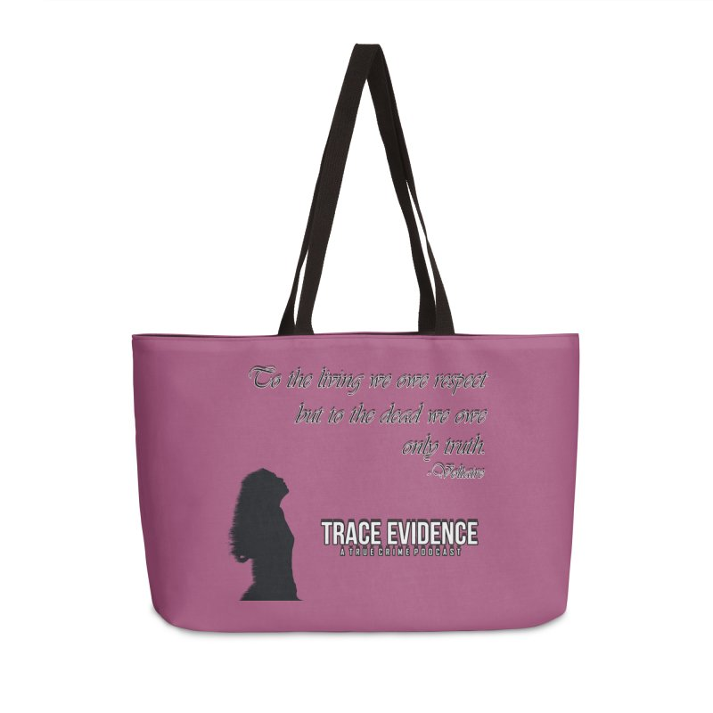 Voltaire Silhouette Accessories Weekender Bag Bag by Trace Evidence - A True Crime Podcast