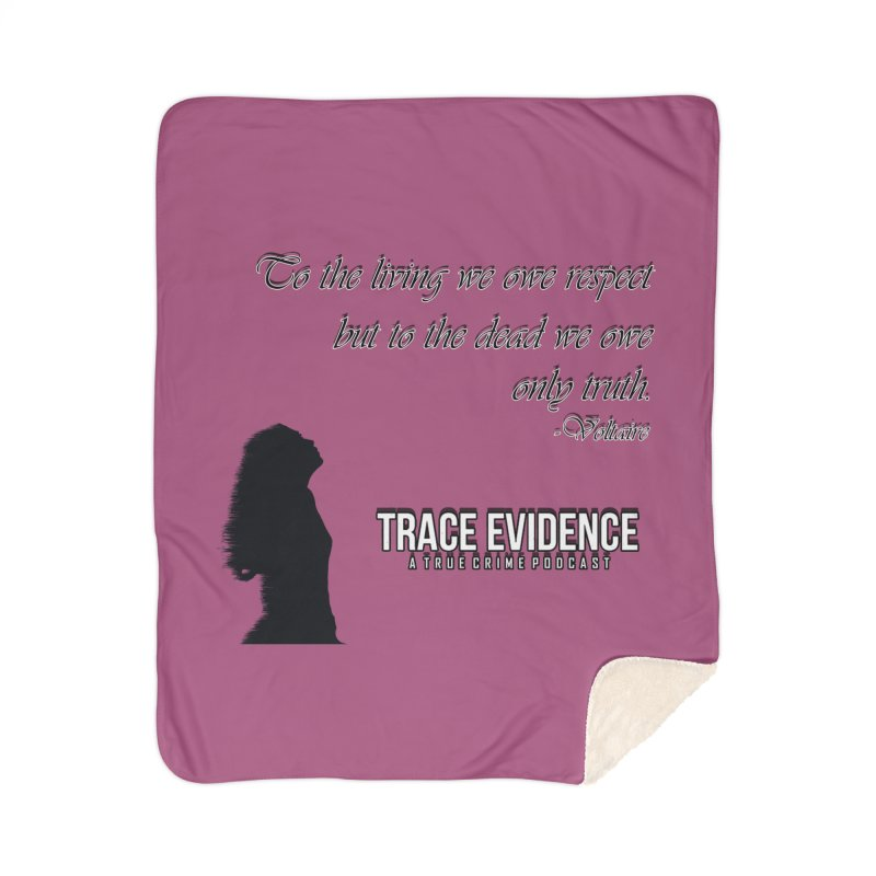 Voltaire Silhouette Home Sherpa Blanket Blanket by Trace Evidence - A True Crime Podcast