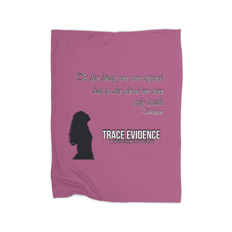 Voltaire Silhouette Home Fleece Blanket Blanket by Trace Evidence - A True Crime Podcast