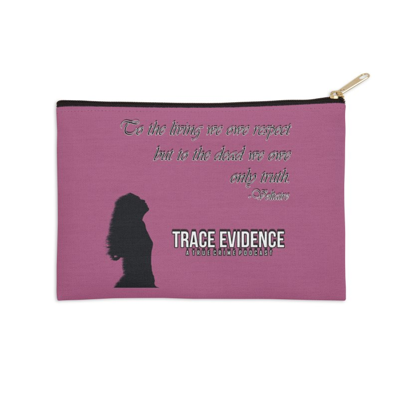 Voltaire Silhouette Accessories Zip Pouch by Trace Evidence - A True Crime Podcast