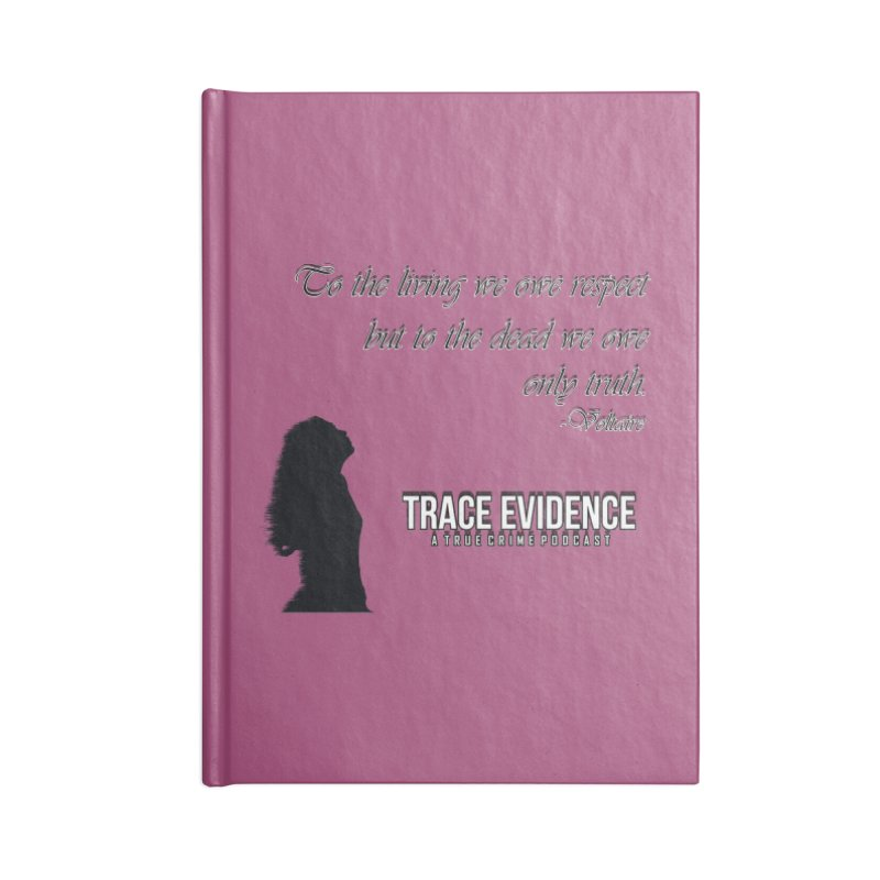 Voltaire Silhouette Accessories Blank Journal Notebook by Trace Evidence - A True Crime Podcast
