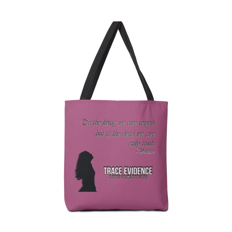 Voltaire Silhouette Accessories Tote Bag Bag by Trace Evidence - A True Crime Podcast
