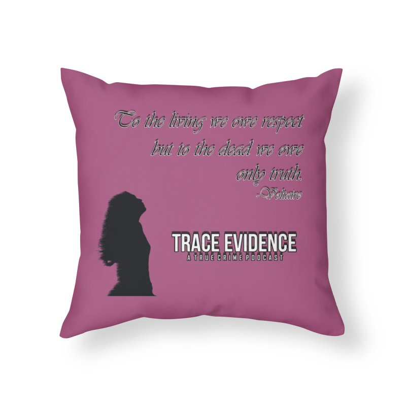 Voltaire Silhouette Home Throw Pillow by Trace Evidence - A True Crime Podcast