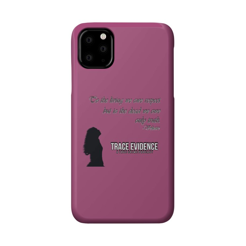 Voltaire Silhouette Accessories Phone Case by Trace Evidence - A True Crime Podcast