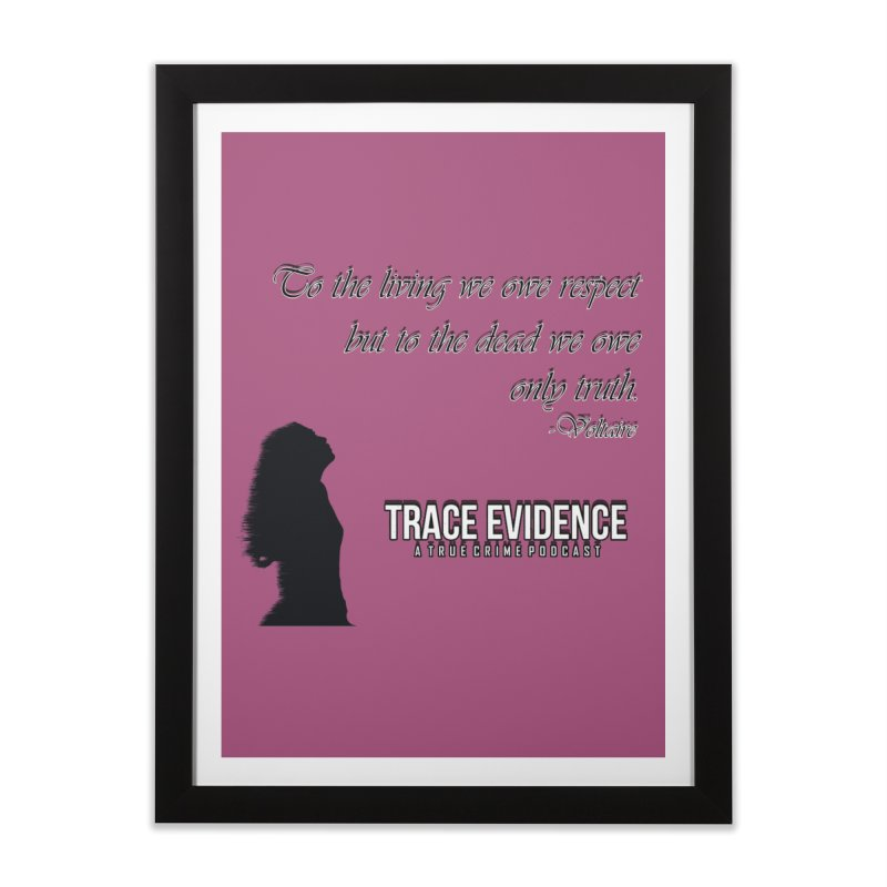 Voltaire Silhouette Home Framed Fine Art Print by Trace Evidence - A True Crime Podcast
