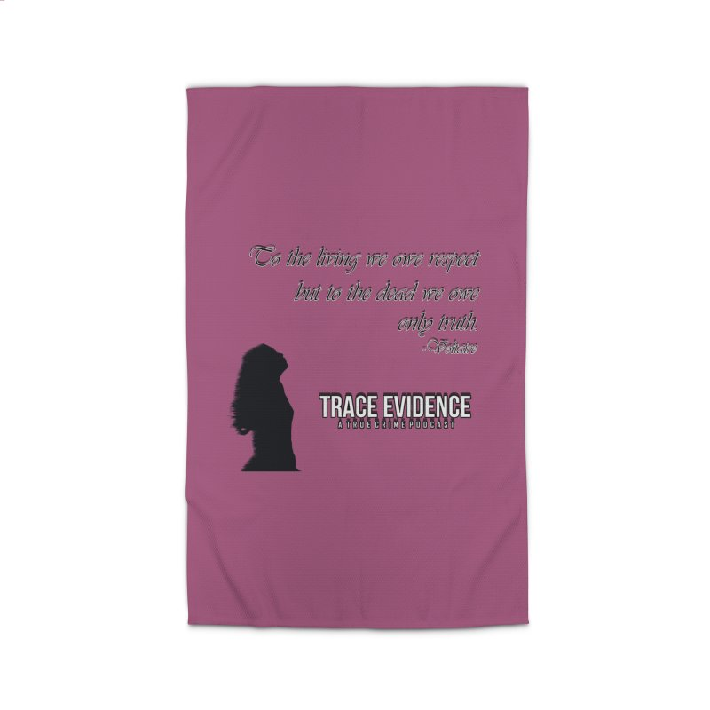 Voltaire Silhouette Home Rug by Trace Evidence - A True Crime Podcast