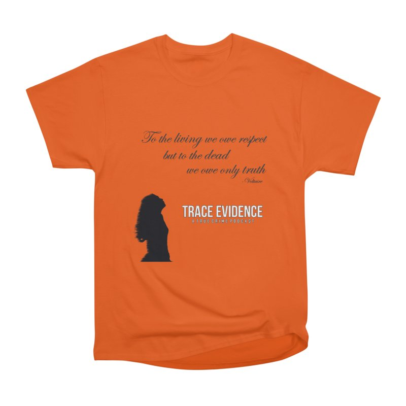 Voltaire Silhouette Women's T-Shirt by Trace Evidence - A True Crime Podcast