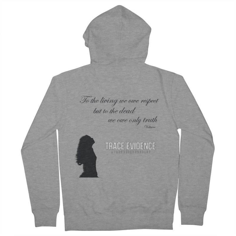 Voltaire Silhouette Men's French Terry Zip-Up Hoody by Trace Evidence - A True Crime Podcast