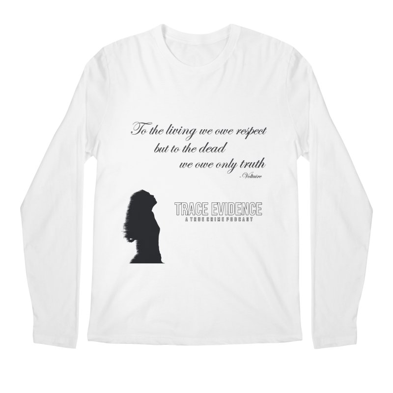 Voltaire Silhouette Men's Regular Longsleeve T-Shirt by Trace Evidence - A True Crime Podcast
