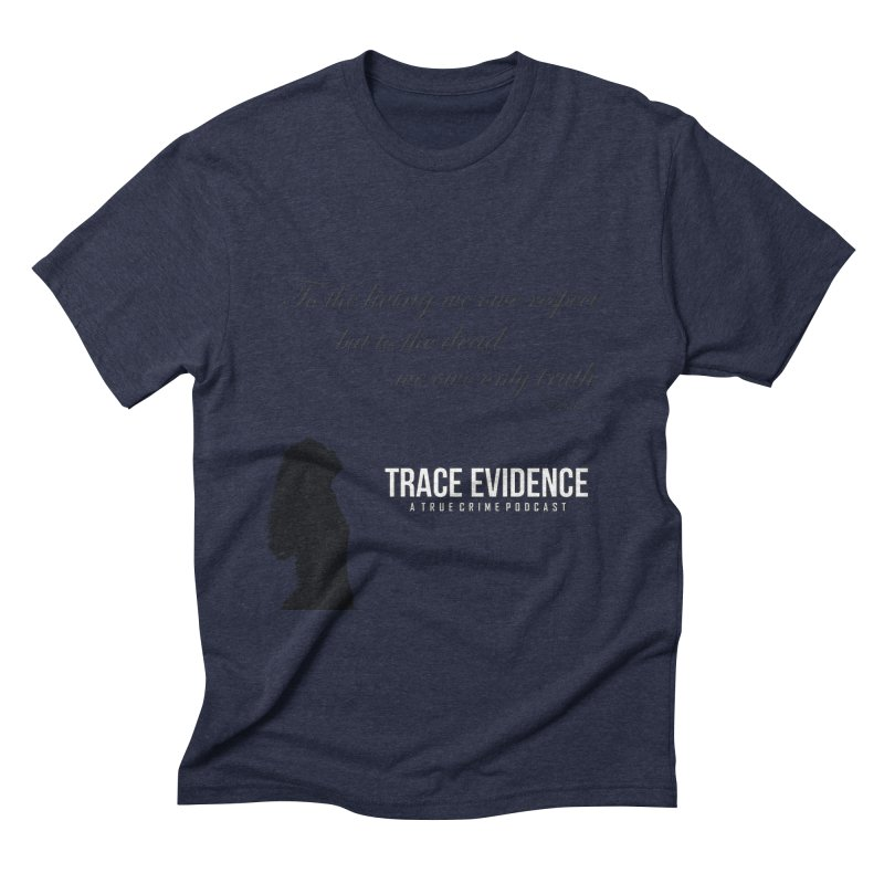 Voltaire Silhouette Men's Triblend T-Shirt by Trace Evidence - A True Crime Podcast