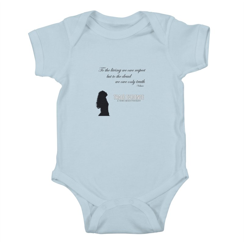Voltaire Silhouette Kids Baby Bodysuit by Trace Evidence - A True Crime Podcast