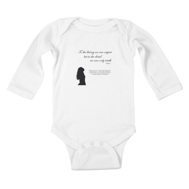Voltaire Silhouette Kids Baby Longsleeve Bodysuit by Trace Evidence - A True Crime Podcast