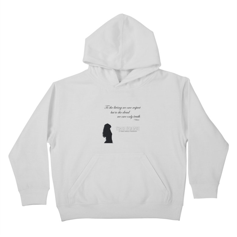 Voltaire Silhouette Kids Pullover Hoody by Trace Evidence - A True Crime Podcast