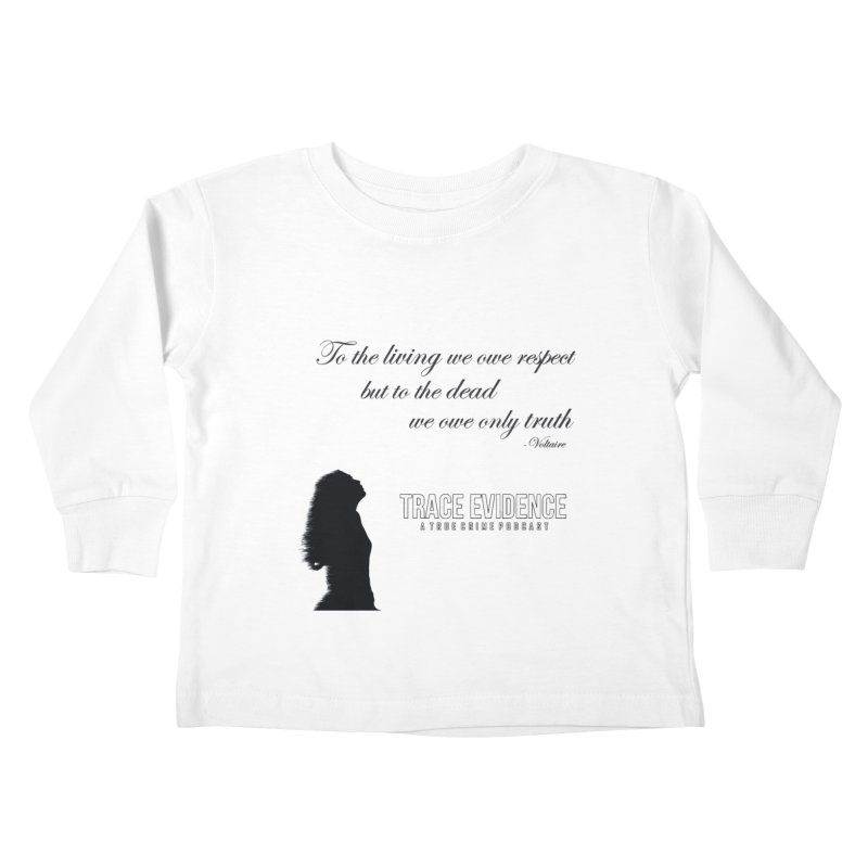 Voltaire Silhouette Kids Toddler Longsleeve T-Shirt by Trace Evidence - A True Crime Podcast