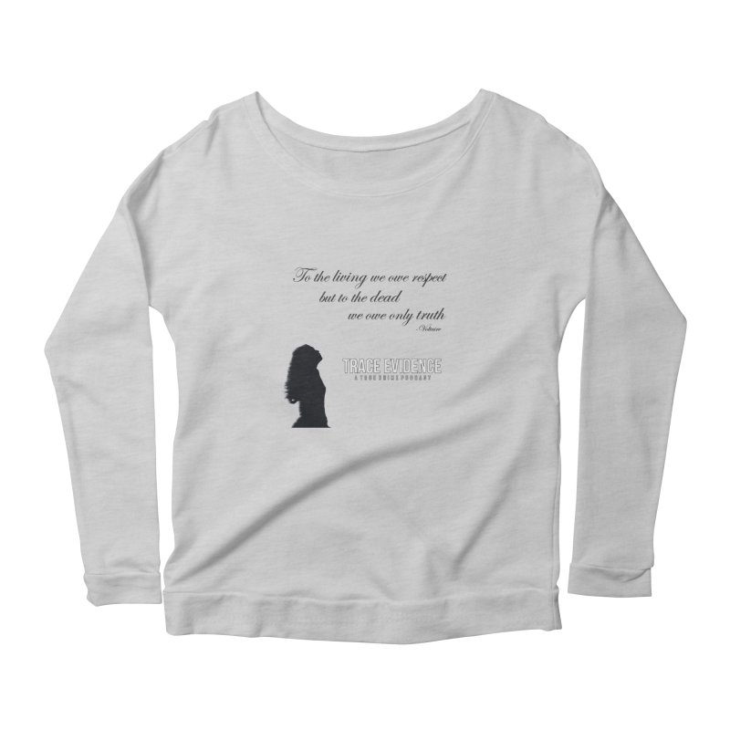 Voltaire Silhouette Women's Scoop Neck Longsleeve T-Shirt by Trace Evidence - A True Crime Podcast