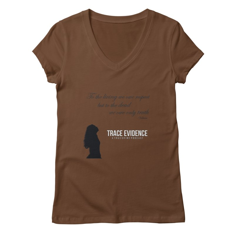 Voltaire Silhouette Women's Regular V-Neck by Trace Evidence - A True Crime Podcast
