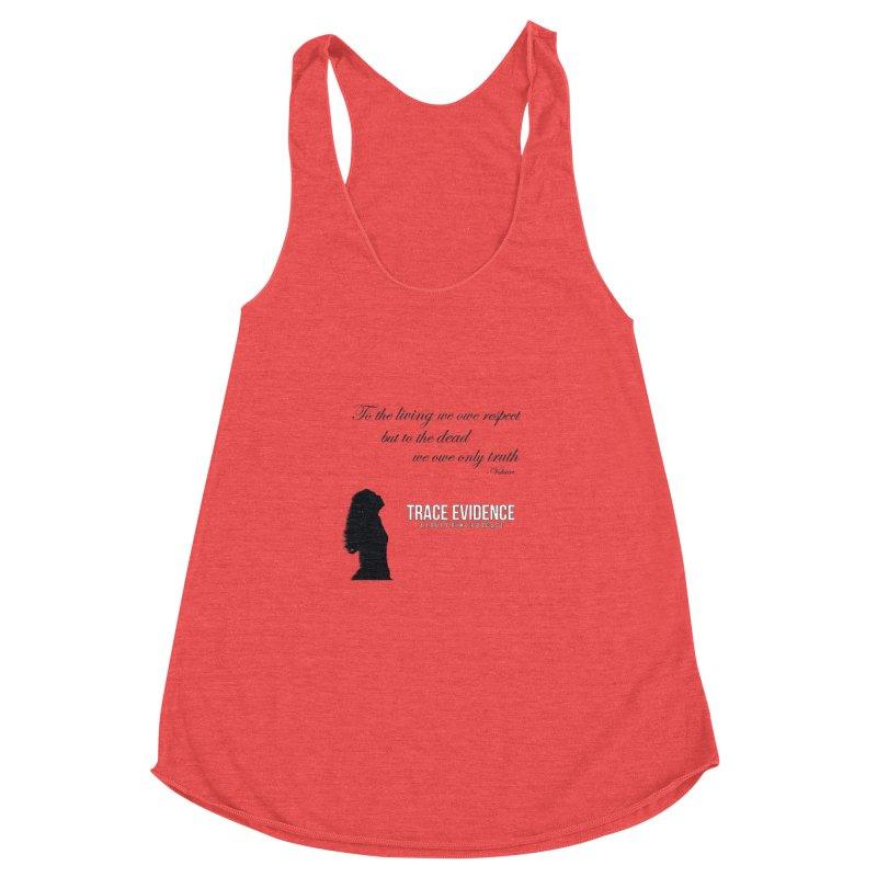 Voltaire Silhouette Women's Racerback Triblend Tank by Trace Evidence - A True Crime Podcast