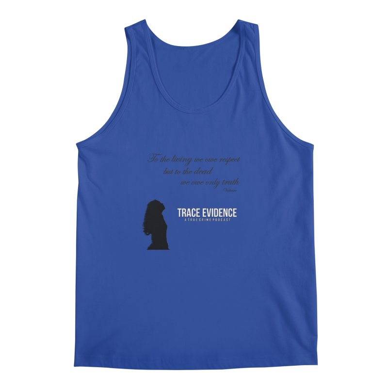 Voltaire Silhouette Men's Regular Tank by Trace Evidence - A True Crime Podcast