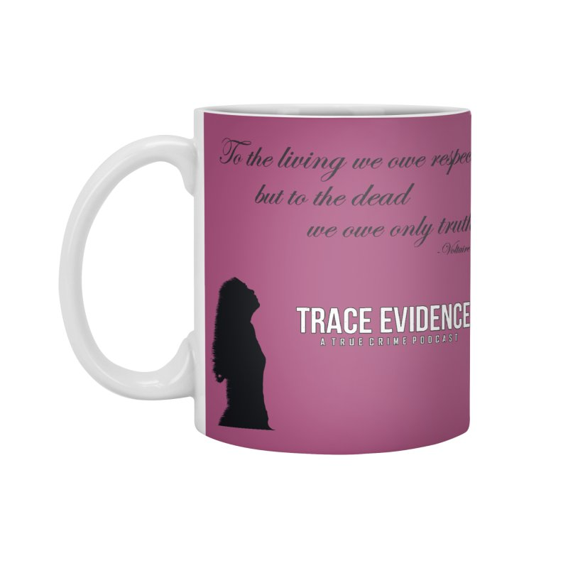 Voltaire Silhouette Accessories Standard Mug by Trace Evidence - A True Crime Podcast