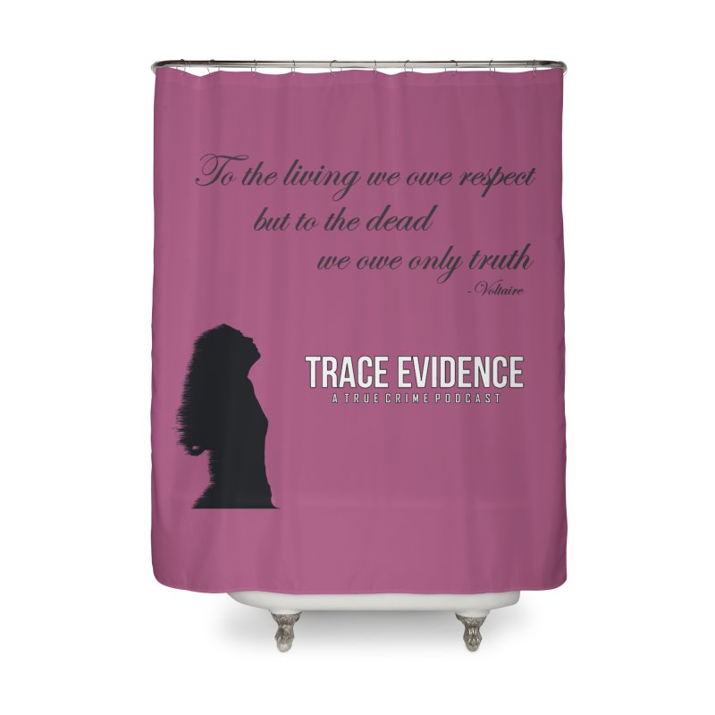 Voltaire Silhouette Home Shower Curtain by Trace Evidence - A True Crime Podcast