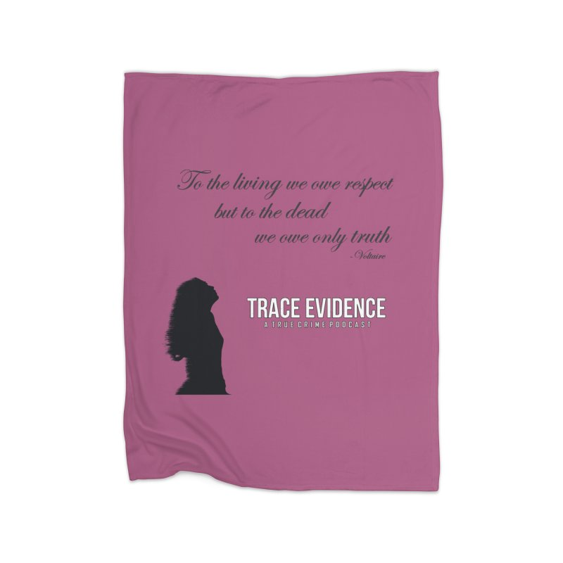 Voltaire Silhouette Home Blanket by Trace Evidence - A True Crime Podcast