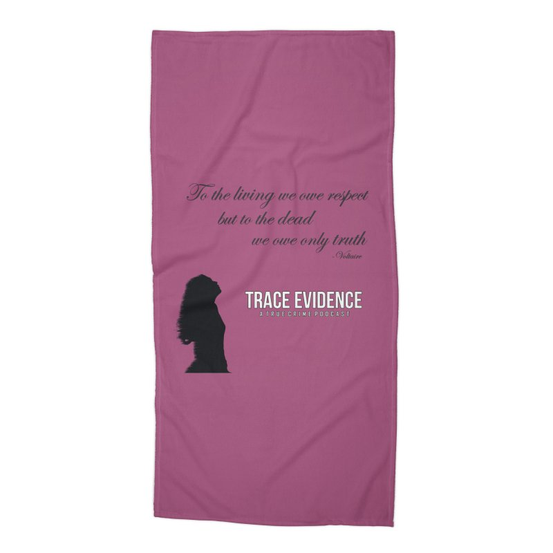 Voltaire Silhouette Accessories Beach Towel by Trace Evidence - A True Crime Podcast