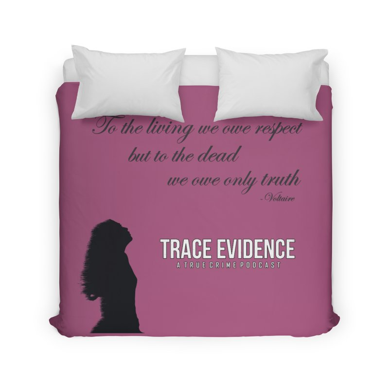 Voltaire Silhouette Home Duvet by Trace Evidence - A True Crime Podcast